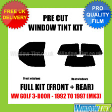 VW GOLF 3-DOOR 1992-1997 (MK3) FULL PRE CUT WINDOW TINT KIT