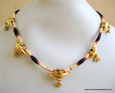20k vintage antique tribal old gold pendant necklace choker bellydance jewelry
