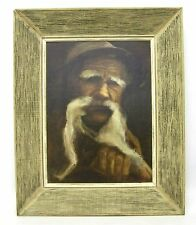 """Original   Acrylic Painting """" Old Timer """", signed"""