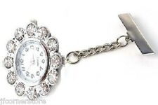 ***NEW DESIGN ** BEAUTIFUL DIAMANTE  NURSES/STUDENT FOB WATCH-NEW-LOVELY GIFT
