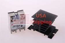 Output AC 24V-380V 40A SSR-40 DA Solid State Relay Module + Heat Sink