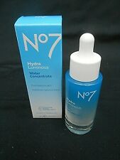 30ml.Boxed No.7.HYDRA LUMINOUS Water Concentrate +100% Skin Hydration Boost
