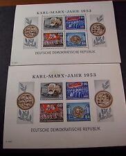 Germany DR  Souvenir Sheet Scott# 146a Karl Marx Perf. & Imp.  MNH 1953  C365