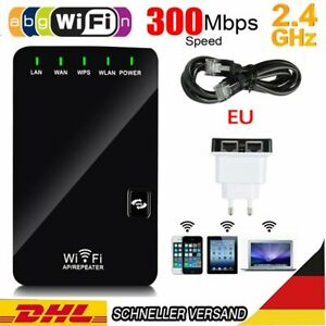 300Mbps WLAN Repeater Router Wifi Signal Verstärker Access Point Booster Router