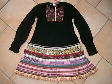 (322) Nolita Pocket Girls Materialmix Kleid mit Seide und Perlmuttknöpfen gr.164