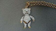 Swarovski Adorable Teddy Bear Pendant Charm - Retired