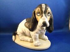 """Vintage 1983 Homco """"Masterpiece Porcelain"""" Bassett Hound Figurine"""