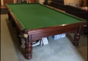 Snooker Table With Full Set Of Cues