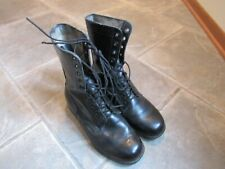 PAIR US ARMY BLACK COMBAT BOOTS MEN'S SZ 9.5 X WIDE MARINES ROTHCO Jan. 1976 VGC