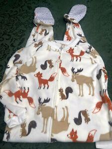 NWT 7 carters sleeper squirrels moose pajamas feet boys girls pajamas unionsuit
