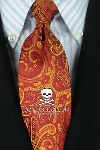 Lord R Colton Studio Tie - Ruby & Gold Tapestry Necktie - $95 Retail New