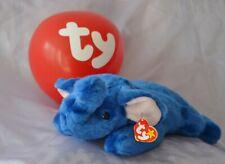 TY BEANIE BUDDY ~ PEANUT ROYAL BLUE ~ PLUSH ELEPHANT