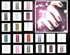20 Packungen Nagelfolie Metallic Effekt Nailfoil Nail Art Stripes Folie