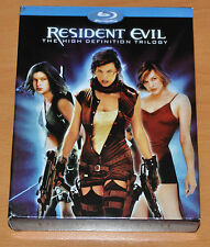 BLU RAY RESIDENT EVIL TRILOGY  3 DISC SET +  ULTRAVIOLET MOVIE MILLA JOVOVICH