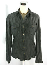 Cloth & Stone Anthropologie Womens Gray Chambray Button Down Long Sleeve Shirt M