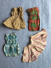 Vintage Doll Dresses For A Smaller Doll - 3 Dresses And A Skirt/Apron