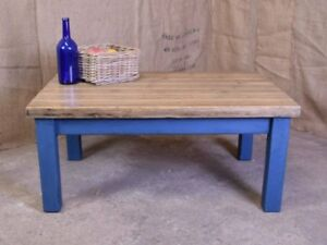 INDUSTRIAL RECLAIMED PLANK COFFEE TABLE - Local & London Delivery Options
