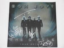 BON JOVI x 4 Hand Signed 2010/11 Official Tour Programme  Australia