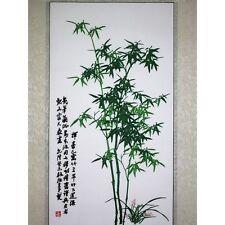 Chinesisches Bild - Bambus, Stickbild, Stoffbild, Stickkunst China, Stickerei
