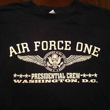 Air Force One Black Tshirt  Presidential Crew Tshirt Washington, D.C. (XL)