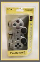 NEW/SEALED Sony Playstation 2 PS2 Dualshock 2 Analog Controller Satin Silver OEM