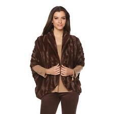 Slinky Brand Faux Fur Cocoon Jacket in Espresso, XS