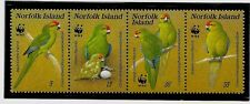 NORFOLK ISL Sc 421 NH issue of 1987 - WWF - BIRDS - PARROTS