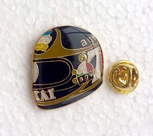 2 X Motorcycle Helmet Tribute Pin Badges, Manx Assen TT, Rossi, MotoGP, NW200...