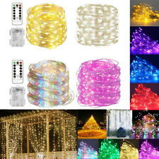 10-5M-1M LED String Lights Battery Operated With Remote Fairy Garden Decor ERM