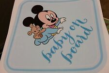 Mickey Mouse Boy Baby on Board Warning Cute Window Decal Sticker Vinyl Sign