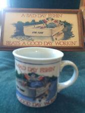 Otagiri Coffee Mug New A Bad Day Fishing Beats a Good Day Working, Made in Japan