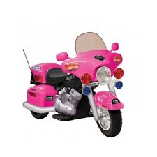 Kids Ride On Motorcycle Pink Battery Operated Electric PoliceToy Girls Bike 12V