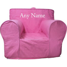 Insert For Anywhere Chair + Hot Pink Cover Small Embroidered White