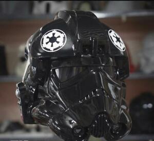 Starwars Imperial Tie Fighter Pilot Helmet Motorcycle Custom DOT & ECE Approved