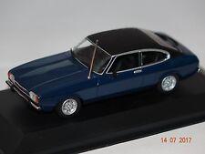 FORD CAPRI II 1974 BLU-NERO 1:43 MAXI Champs Minichamps 940081201 NUOVO & OVP