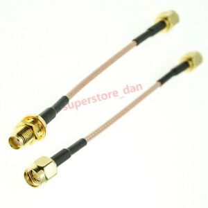 SMA Male To SMA male female connector lot Jumper WIFI RF RG316 extension cable