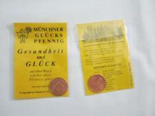 2 alte vintage Souvenir München Müchner Glückspfennig Gesundheit und Glück