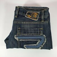 Diesel Men's Jeans Cardiel Distressed Denim Blue Size 32 Made In Italy