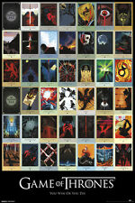 GAME OF THRONES Poster - HBO TV Series Episode Collage Full Size 24x36 Print