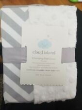 Cloud Island Wipeable Changing Pad Cover With Plush Sides Chevron White Gray