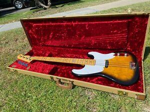 "Fender Sting ""Police"" Signature '53 P Bass Precision MIJ w/ Fender Tweed Case 51"