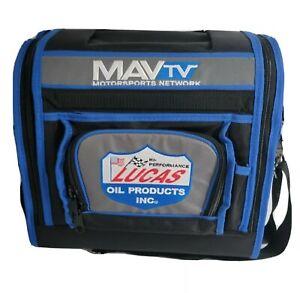 NEW MAVTV Lucas Oil Tool Bag Box Blue Black Rare Collectors Shoulder Strap