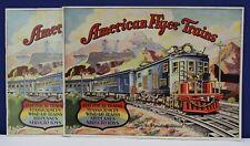 Original 1929 American Flyer Structo Train Catalog Plus 1977 Iron Horse Reprint