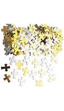 Confettis de table croix or et argent Sac de 14 gr pacs Mariage bapteme communio