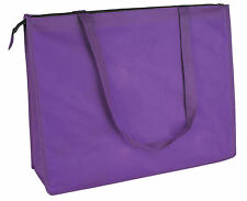 Tote Bags, Wholesale Lot of 24 Extra Large Zippered Totes. Lightweight, Recycled