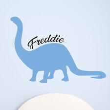 Children Kids Boys Brontosaurus Dinosaur Name Custom Personalised Wall Sticker