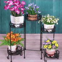 5 Tier Metal Plant Stand Flower Pot Display Shelf Garden Patio Indoor Outdoor