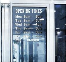 shop opening hours - times signs to order can even personalise to your needs