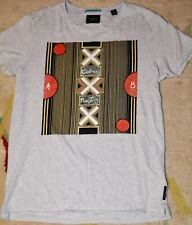 Men's Scotch & Soda Snake charmer Grey Tshirt Size M Cobras Roosters Gamer Coton
