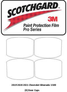 3M Scotchgard PRO Paint Protection 2019-2021 Chevrolet Silverado 1500 Door Cups